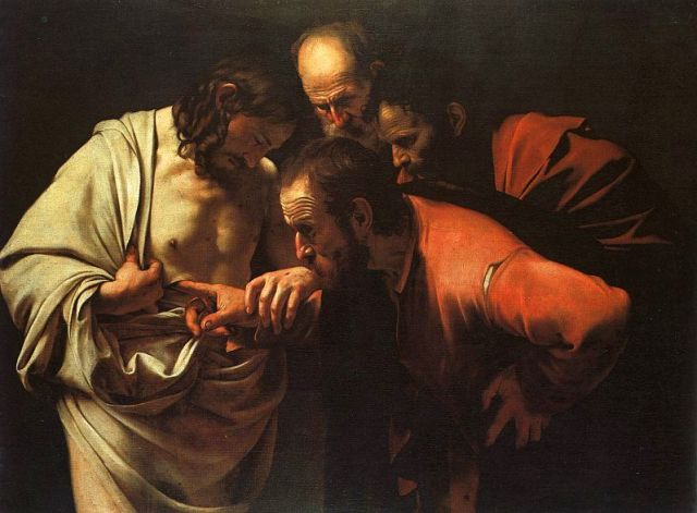 Retrieved from http://en.wikipedia.org/wiki/Doubting_Thomas#mediaviewer/File:Caravaggio_-_The_Incredulity_of_Saint_Thomas.jpg